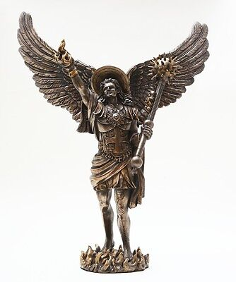 ARCHANGEL URIEL - GOD IS MY LIGHT.CHRISTIANITY.AURIEL.PROTECTOR STATUE FIGURINE