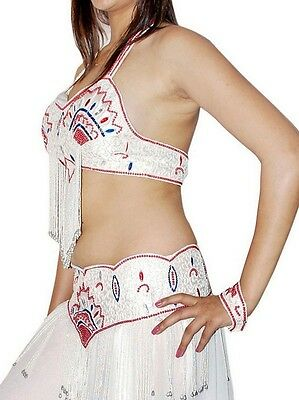 Belly Dance Costume Professional white new