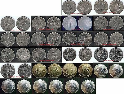 SMALL 50p 50 Pence 1997-2016 Choose your item DISCOUNTS UP TO 10% SALE