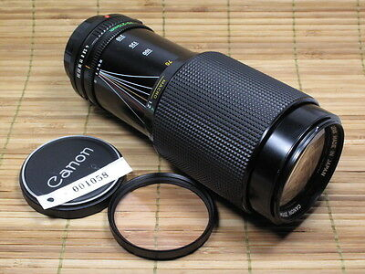 CANON FD 70-210MM F4 ZOOM LENS W/CAPS FOR F1,A1,AE-1 EXCELLENT