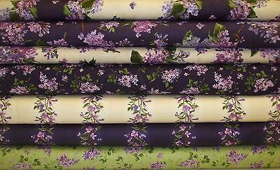 Fresh Lilac Floral Collection Quilt Fabric Maywood Studios