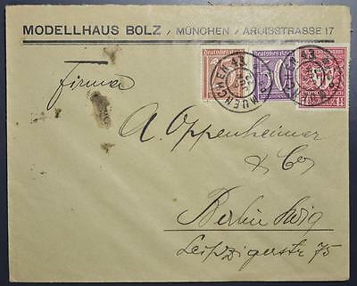 GERMANY 1922 Trade EXPO + Cypher on Inflation Cover MUENCHEN to BERLIN , DR