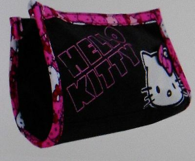 """BLACK and PINK HELLO KITTY COSMETIC BAG 7"""" X 4.5"""" X 2"""""""