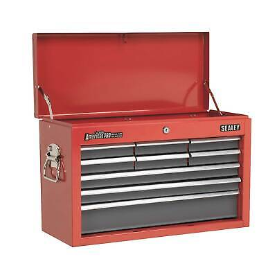 Sealey Tool Topchest 9 Drawer With Ball Bearing Runners - Red/Grey - AP22509BB