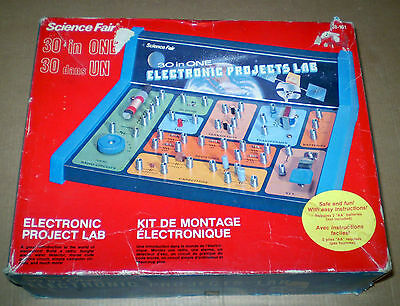 SCIENCE FAIR ELECTRONIC PROJECT LAB VINTAGE  30 IN 1
