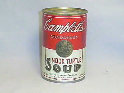 VINTAGE 1930's CAMPBELLS MOCK TURTLE SOUP TIN CAN~PERFECT REPRODUCTION