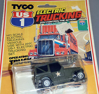 ★ TYCO US-1 ELECTRIC TRUCKING # 3957 ★ G.I.JOE MILITARY ARMY JEEP ★MIP RARE CARD