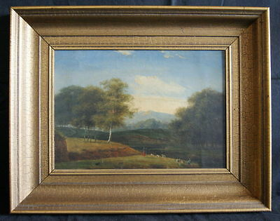 """""""A HERD OF SHEEPS"""" OLD OIL FROM 1860-80. NO RESERVE"""