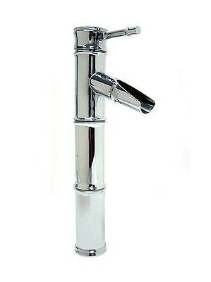 New Bamboo Chrome Style Single Lever Bath Bathroom Vessel Sink Faucet Tap Mixer