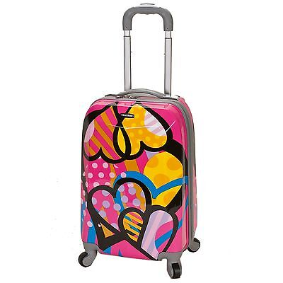 Rockland Vision Light Hardside Spinner Carry-On Luggage - Love & Hearts