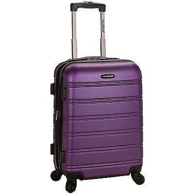 Rockland Luggage Melbourne Series Carry-On Upright - Purple