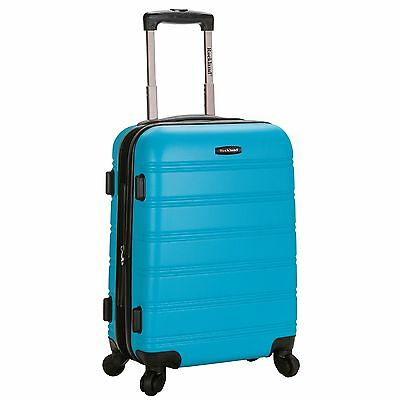 Rockland Luggage Melbourne Series Carry-On Upright - Turquoise