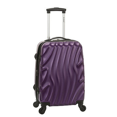 "Rockland Luggage Wave Series 20"" Carry-On Upright - Purple Wave"