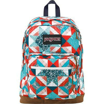 """New JanSport Right Pack World 15"""" Laptop Backpack Authentic Multi Yankee Doodle"""