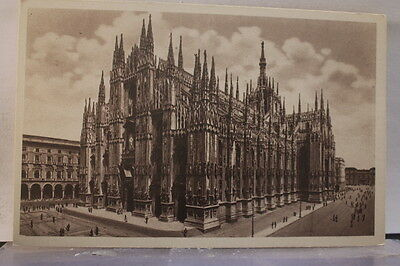 Italy Milan Cathedral Postcard Old Vintage Card View Standard Souvenir Postal PC