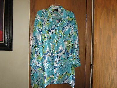 Womens PLUS size BLOUSE, 5X, 34/36W, Maggie Barnes, Lot 77
