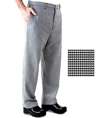 Chef Pants Black White Houndstooth 42/44 unhemmed Inseam  New