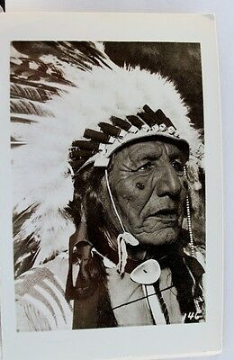 Indian Native American Real Photo Postcard Old Vintage Card View Standard Post