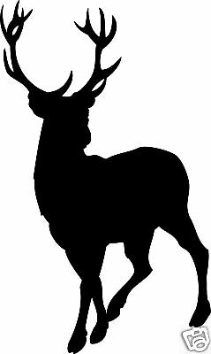 BUCK DEER HUNTING * Window Wall DECAL * HUNT * Vinyl Car STICKER ~ ANY COLOR