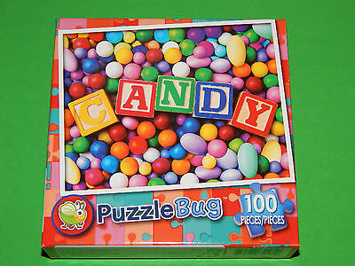 New 100pc Jigsaw Puzzle Puzzlebug Candy Blocks Childrens Gift Kids