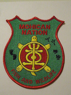 Mohican Nation Fish & Wildlife Patch Tribal Tribe Wisconsin