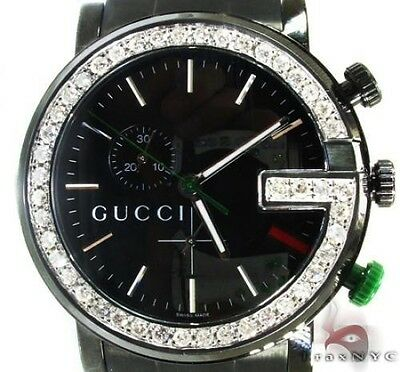 feab4def302 MENS DIAMOND GUCCI Red 101M Watch Round Cut Color 3.00ct -  2