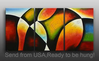 """72"""" Abstract Oil Painting Framed Canvas Art Modern Contemporary Decor Wall"""
