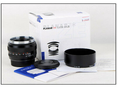 New Zeiss Planar T* 50mm F/1.4 ZE for Canon EOS 5D III 1Dx 1DS 1D mark