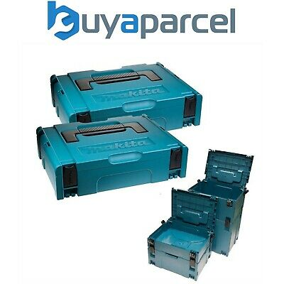 Makita MAKPAC Pack of 2 x Stacking Connector Tool Cases Type 1 396 x 296 x 105