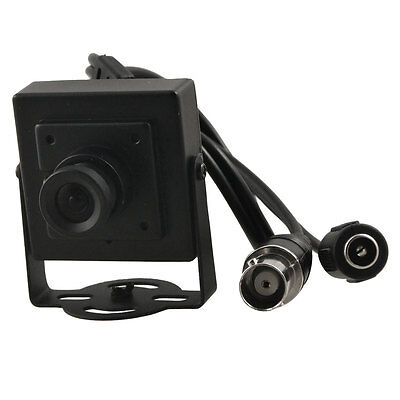 Security CCTV Black RCA Male to Male Wired Mini Digital Camera w Support