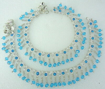 HANDMADE BOLLYWOOD SILVER TONE BELLS ANKLET PAYAL INDIAN TRADITIONAL JEWELRY 2