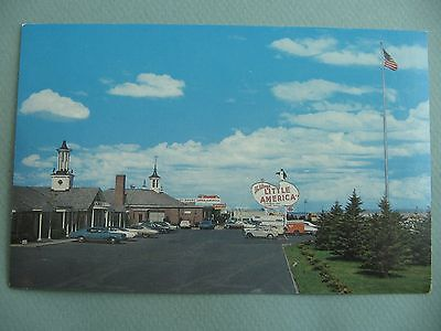 Little America Rest Stop LITTLE AMERICA WYOMING WY Vintage Postcard OLD CARS
