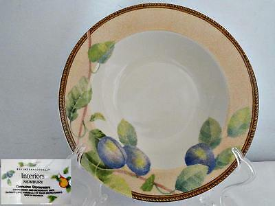 PTS International Interiors Newbury Rimmed Soup Bowl Plums
