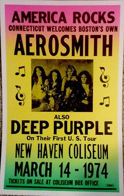 Aerosmith and Deep Purple in New Haven, CT '74 Poster