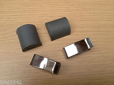 Grey Side Panel Buffers And Stainless Steel Clips. For Lambretta Gp-Li-Sx-Tv New