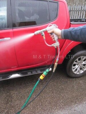 Air Pressure Washer Gun. Pressure Washer run by an Air Compressor.