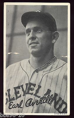 1936 Goudey Wide Pen EARL AVERILL Cleveland Indians LITHO R314 Premiums Card HOF