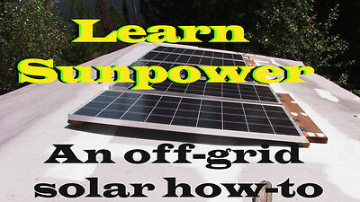 Learn to setup up a complete solar power system (DVD)