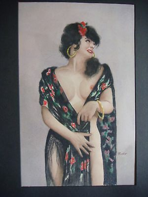 AMERICAN LISTED ARTIST, BEAUTIFUL WOMEN WATERCOLOR PAINTING SIGNED BARKER.
