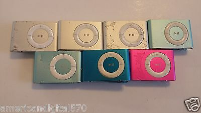 Apple iPod Shuffle 2nd Generation UNTESTED Lot of seven