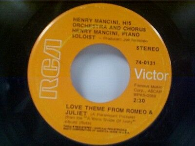 """HENRY MANCINI """"LOVE THEME FROM ROMEO & JULIET / THE WINDMILLS OF YOUR MIND"""" 45"""