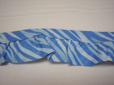 """3 yards of Blue Stripe 50% Polyester/50% Cotton 2"""" Wide One Step Trim"""