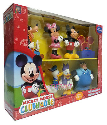 Disney Soft Mickey Mouse Clubhouse 8 Figures Play Set Birthday Cake Topper