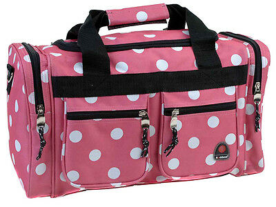 "Rockland Bel-Air 18"" Carry-On Tote Duffle Bag Pink Dot"