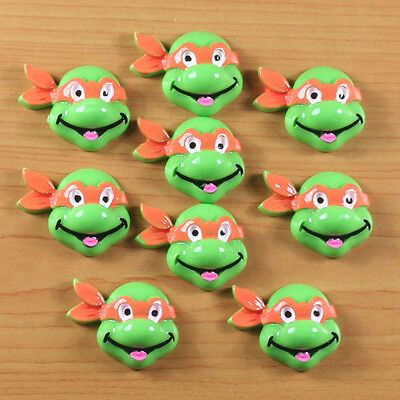 10 pcs Orange Turtle Brother Cabochons Resin Flatback Hair Bow Center Crafts #2