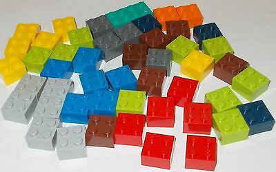 Lego Brand Lot of 50 2x2 Dot Bricks in Different Colors