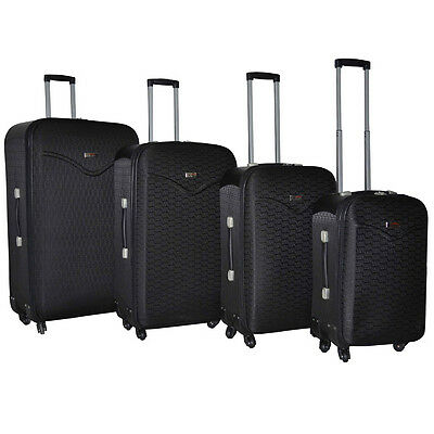 Destinations Hipack 4-Piece Expandable Spinner Luggage Set - Black Print