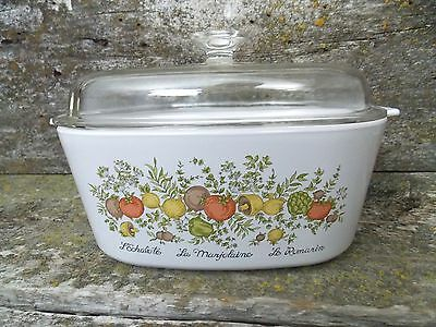 Vintage Corning Ware Spice Of Life A-5 Quart Casserole Dutch Oven w/Lid