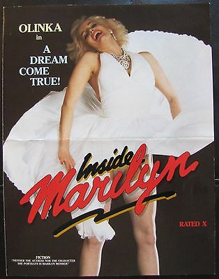 INSIDE MARILYN Olinka Monroe RATED X ADULT 1984 MOVIE THEATER PRESSBOOK