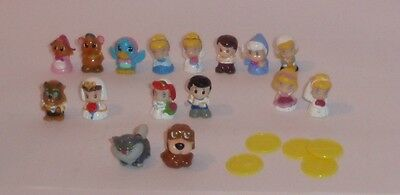 16 Squinkies - Cinderella, Fairy Godmother, Prince Charming etc...